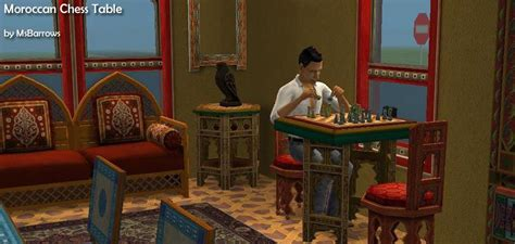 chess table chairs sims 3 mod the sims moroccan chess table