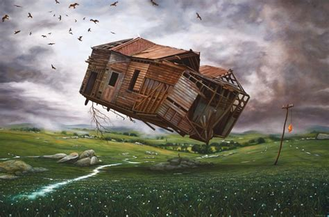 flying house contemporary paintings flying house painting richard baxter