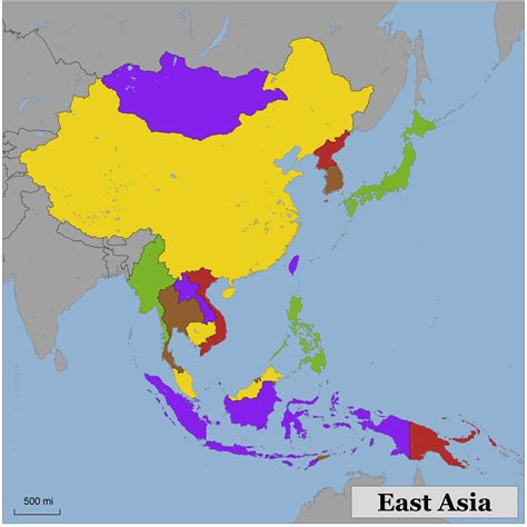 map east asia blank color map of eastern asia