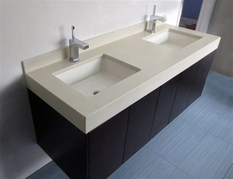 Custom Bathroom Countertops With Sink by 43 Best Images About Custom Concrete Bathroom Sinks