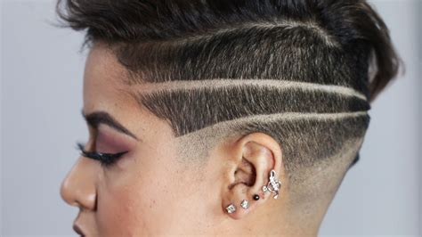 haircut design 1 shaved side hairstyle youtube womens shaved hairstyles one side luxury women badass