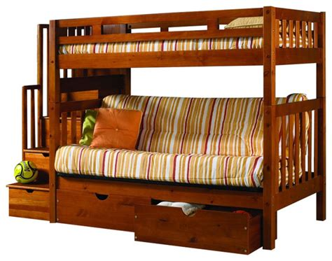 futon bunk bed with stairs custom kids furniture bunk bed with futon stairs