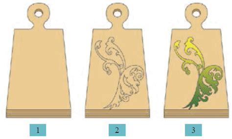 menerapkan ragam hias pada bahan kayu mikirbae