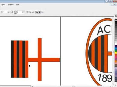tutorial coreldraw membuat logo youtube tutorial corel draw membuat logo ac milan youtube