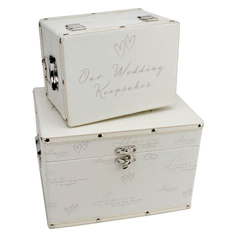 Wedding Keepsake Box by Wedding Keepsake Box Set Of 2 High Quality Wedding