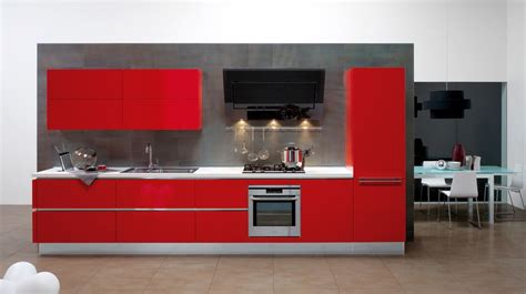 short kitchen wall cabinets red lacquer kitchen cabinet on industrial grey wall for