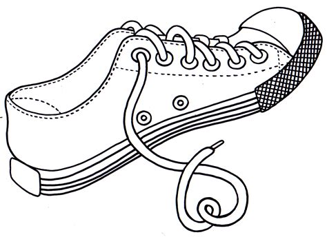 Coloring Pages Of Shoes shoe coloring pages free printable pictures coloring
