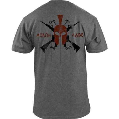 T Shirt Tactical Pratama Spartan molon labe modern spartan t shirt usa medals