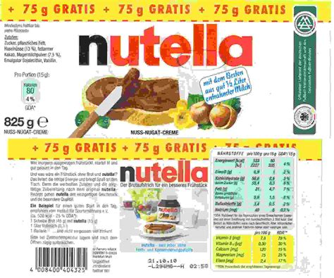 printable nutella label nutella and new eu food label requirements page 6