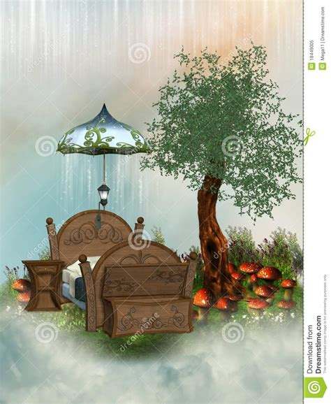 fairy bed fairy bed royalty free stock photo image 18449005