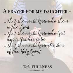 a prayer for my daughter faith fullness