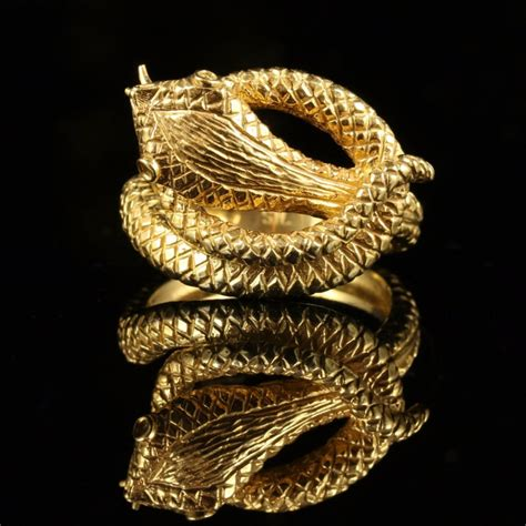 gold serpent snake ring 18ct silver 427770