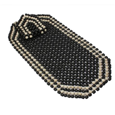 beaded seat cushion beaded wooden front seat chair cover cushion car