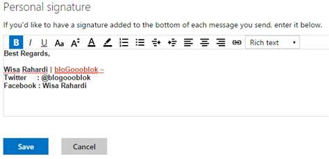 membuat signature pada yahoo mail cara membuat signature pada gmail yahoo dan outlook
