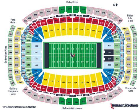 houston reliant stadium seating chart seating reliant stadium