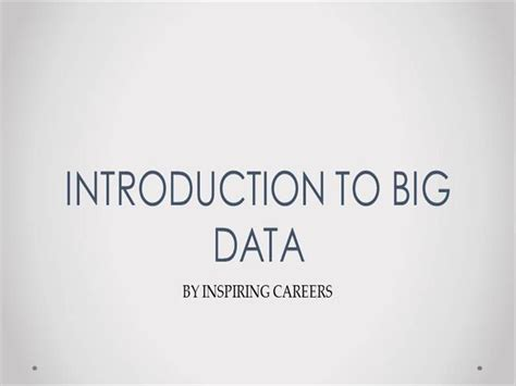introduction to spring data ppt download introduction to big data inspiringcareers authorstream