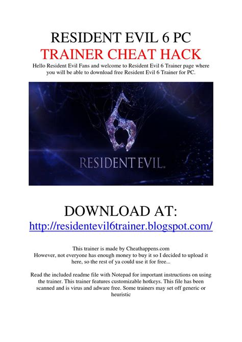 resident evil 5 trainer cheats hack keycrackdownload download resident evil 6 trainer 14 turreisungca s diary