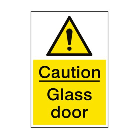 Glass Door Sign Caution Glass Door Sign Portrait Pvc Safety Signs