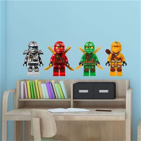 lego ninjago wall stickers 4 ninjago lego characters colour wall sticker vinyl transfer decal 30cm h bespoke graphics