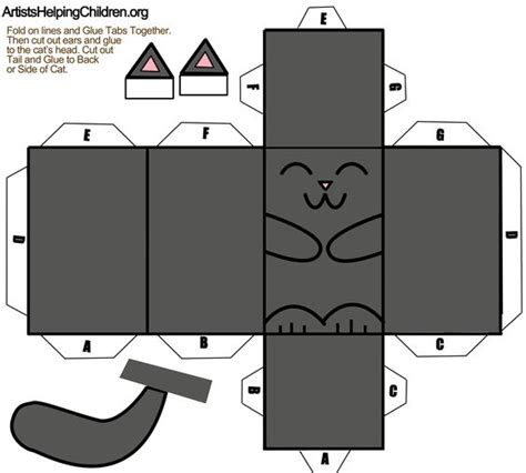 Black Cat Papercraft - click on this picture to open template then save the