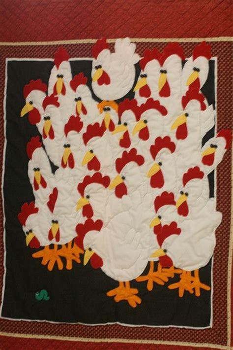 Patchwork Chickens - best 25 chicken quilt ideas on applique