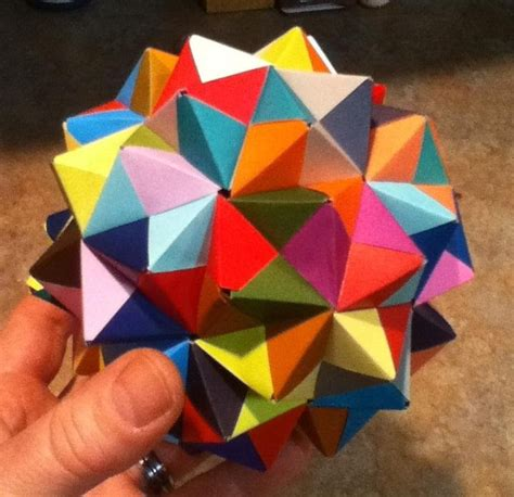 Maths Origami - modular origami how to make a cube octahedron