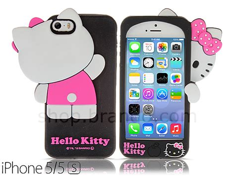 Casing Universal 7 Hello iphone 5 5s hello 3d hide and seek soft silicone