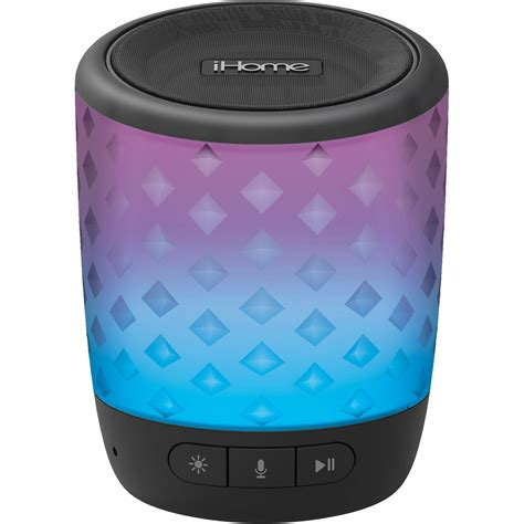 ihome speaker color changing ihome ibt81b color changing rechargeable bluetooth speaker