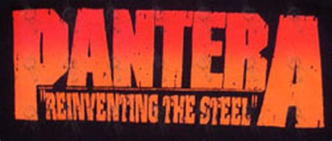 Pantera Reinventing The Steel Japan Pressing pantera black reinventing the steel design logo t shirt miscellaneous other records