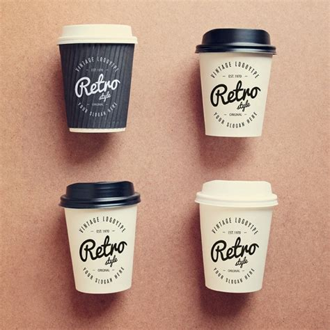 coffee cups coffee cups collection mock up psd file free