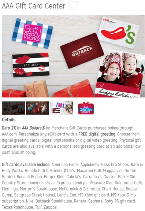 Aaa Gift Cards - aaa offering 2 in aaa dollars when you purchase 3rd party gift cards doctor of credit