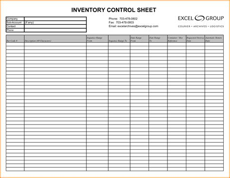 Inventory Log Sheet Charlotte Clergy Coalition Sheets Templates Inventory