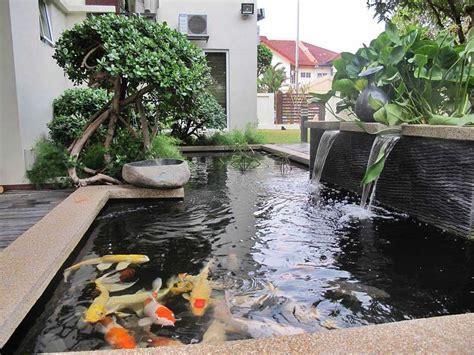 desain kolam ikan depan rumah minimalis ide pembuatan kolam ikan hias minimalis di halaman rumah