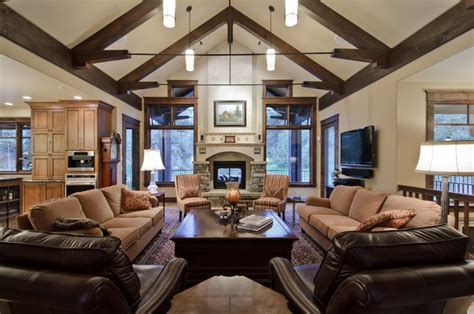 House Plans With Vaulted Ceilings Great Room