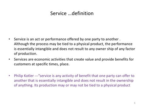 service definition services marketing