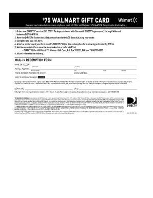 Directv Walmart Gift Card - fillable online 75 walmart gift card directv fax email