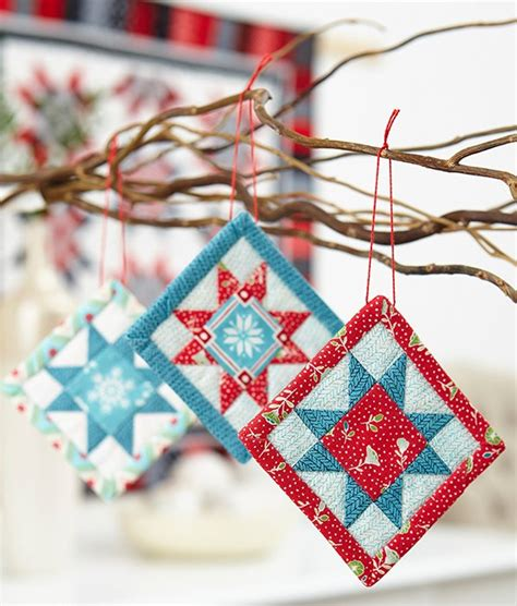 Quilting Ornaments by Mini Quilt Ornaments For Cheer Quilting Digest