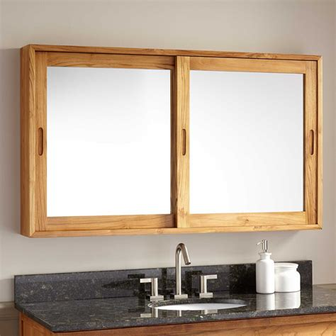 wooden mirror cabinet bathroom 47 quot wulan teak medicine cabinet natural teak bathroom