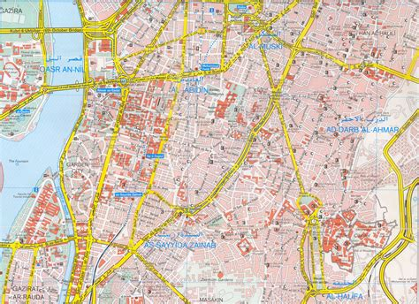 cairo map cairo tourist map cairo mappery