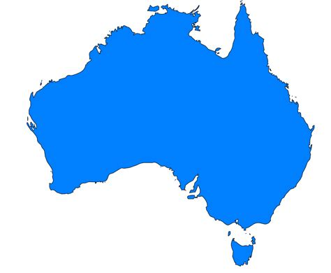 australia map vector free australia outline map vector clipart best
