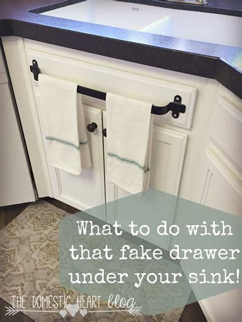 What To Do When Your Kitchen Sink Is Clogged What To Do With That Fake Drawer Under Your Kitchen Sink