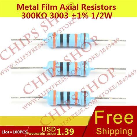 Setelan Me You 2w 1lot 100pcs metal axial resistors 300kohm 3003 1 1