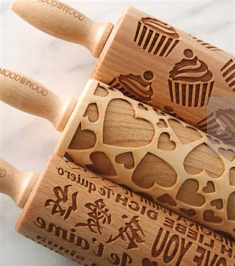 Best Quality Rolling Pin Wooden Stick 30cm Kayu Penggiling Adonan Co engraved rolling pins the best collection of ideas
