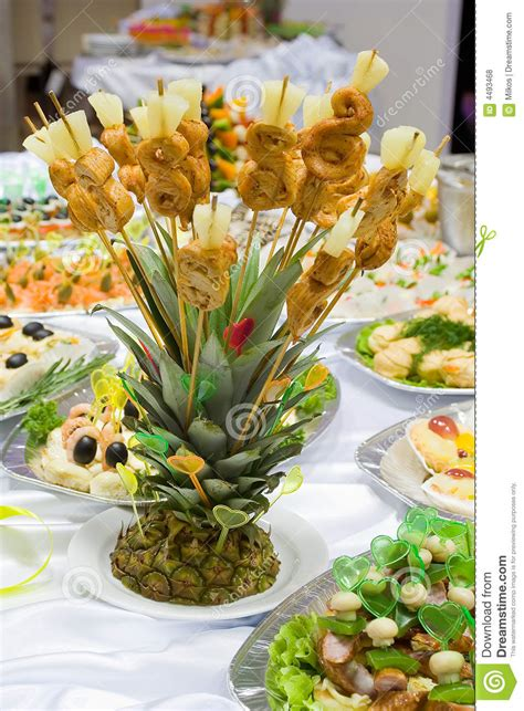 catering buffet style pineapple stock photo image 4493468