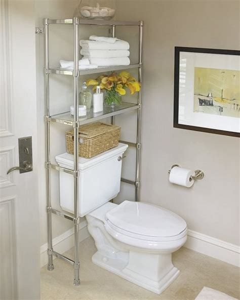 the toilet shelving units help maximize space