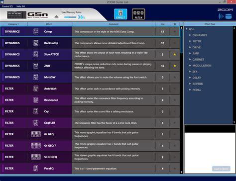Multi Effect zoom g5n multi effects processor zoom