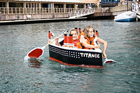 cardboard boat race fails ocean village gears up for cardboard boat race 2011