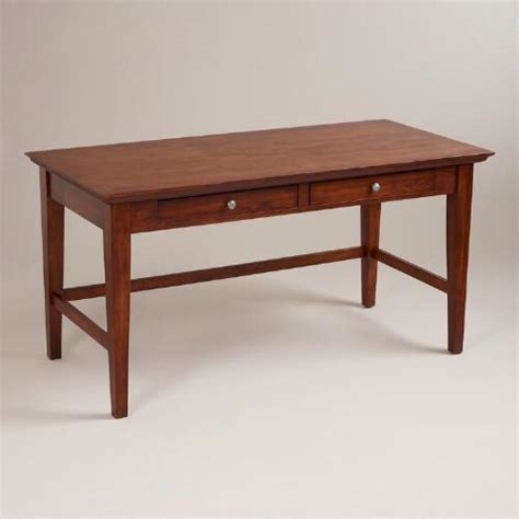 world market office furniture mahogany konrad desk world market