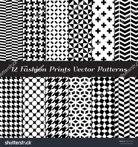 pattern fashion vector black white fashion prints patterns houndstooth stock