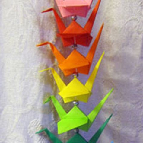 Origami Crane String - string of origami cranes